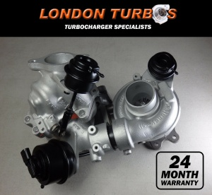 Mazda 3 6 CX3 CX5 CX7 2.2D 150/175HP 810357 810358 Twin Turbocharger Bi-Turbo