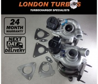 Land-Rover Range Rover Vogue 3.6 TDV8 (Left & Right 61/62) 2 x Turbochargers